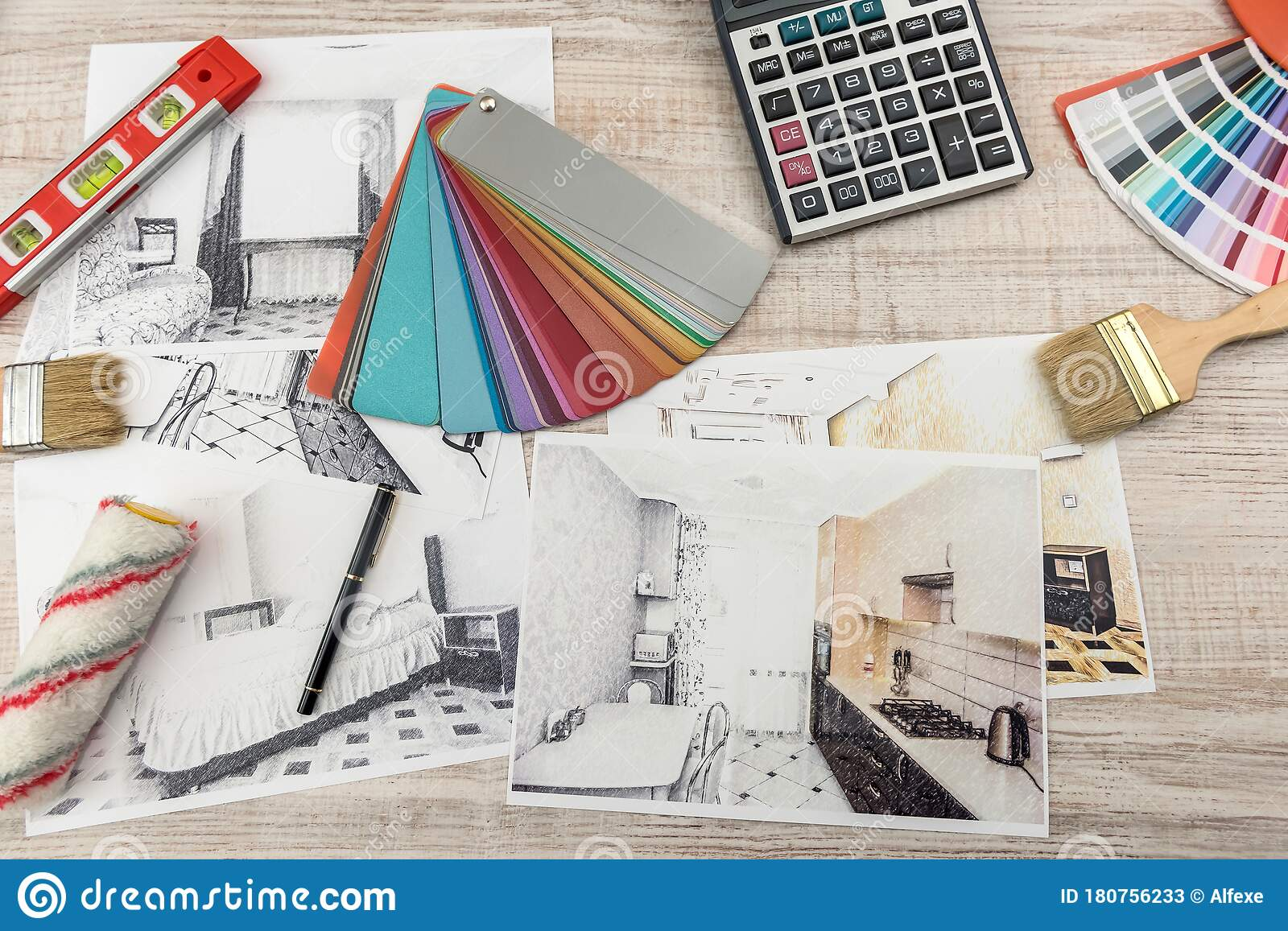 modern drawing pencil sketch of a room interior design projects concept stock image image of color decoration 180756233