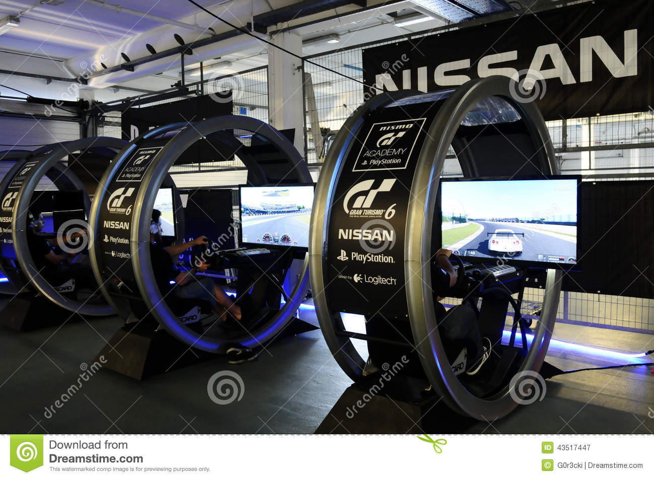 Simulator Car Games >> Modern Driving Simulator - GT Academy, PlayStation Editorial Photography - Image: 43517447