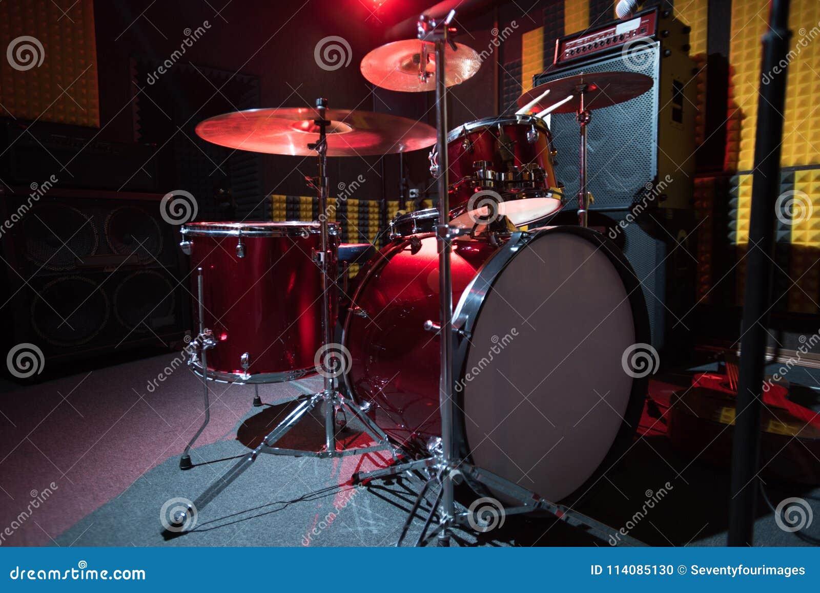 Modern Drum Set On Stage Stock Photo Image Of Garage 114085130