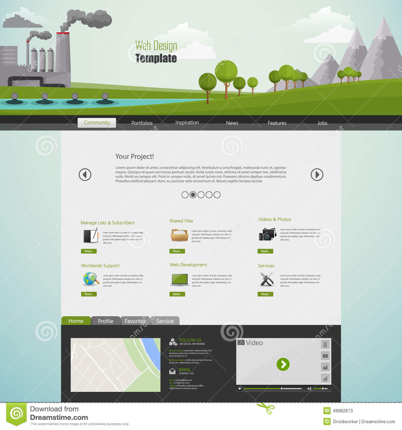 Colorful Illustrator Website Template Image Collection - Resume ...