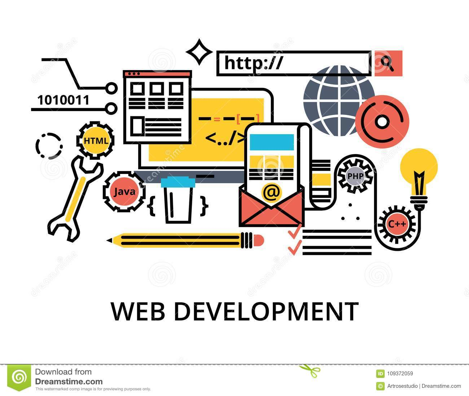Set of abstact web development process
