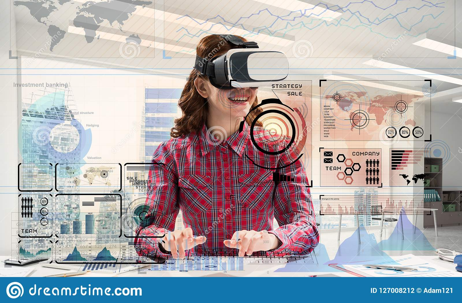 Modern educational process stock photo  Image of concept