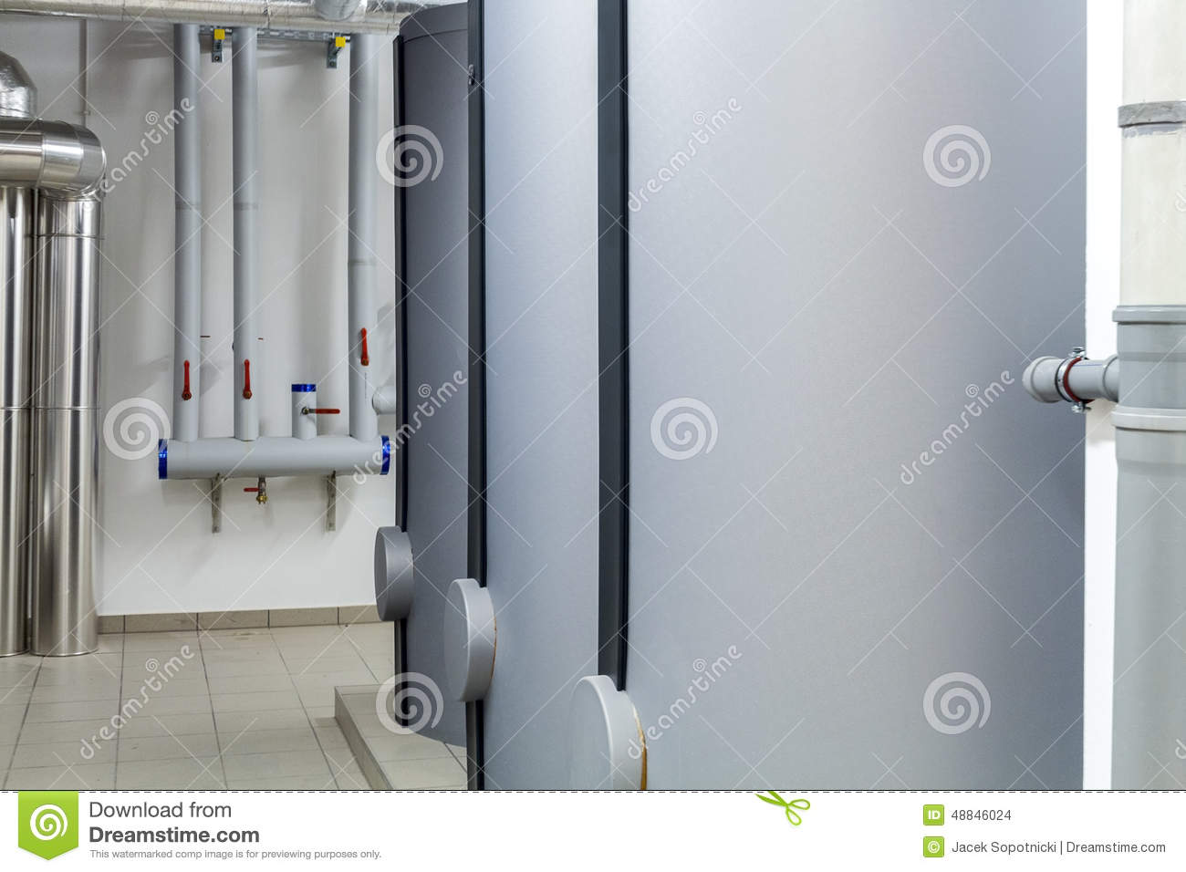 Modern efficient heating system stock photo image 48846024 for What is the most economical heating system