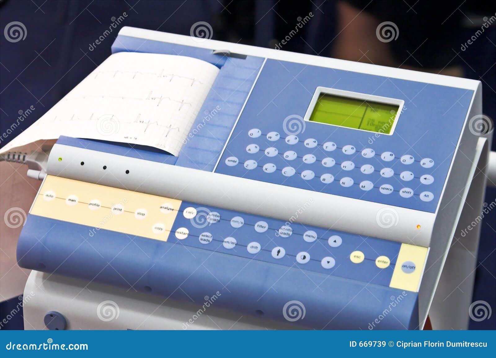 modern ekg machine stock image image of analyse hospital 669739. Black Bedroom Furniture Sets. Home Design Ideas