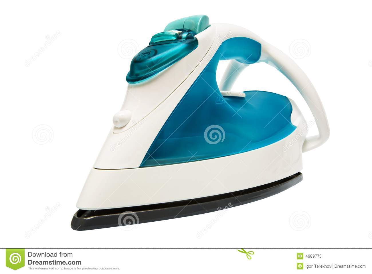 Hand Electric Iron Made In 2000 ~ Modern electric iron royalty free stock photo image