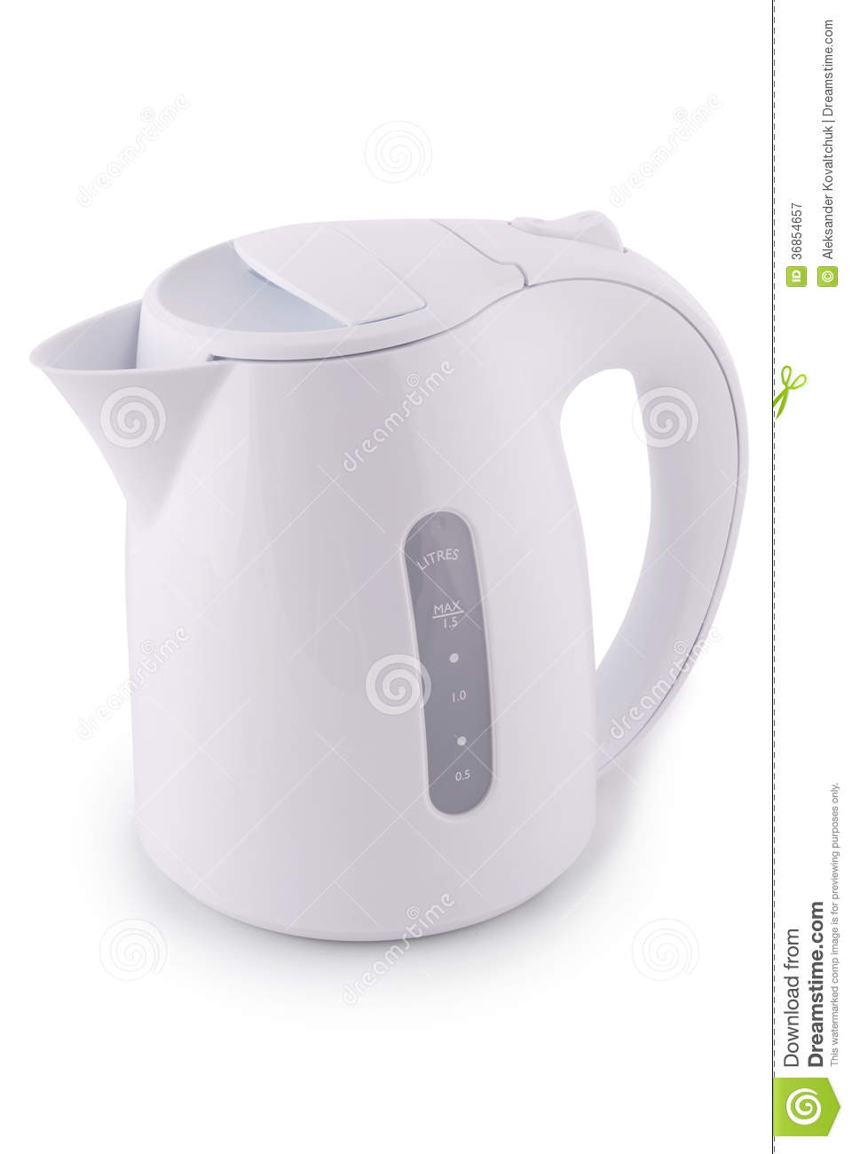 modern electric kettle (clipping path) royalty free stock  - modern electric kettle (clipping path)
