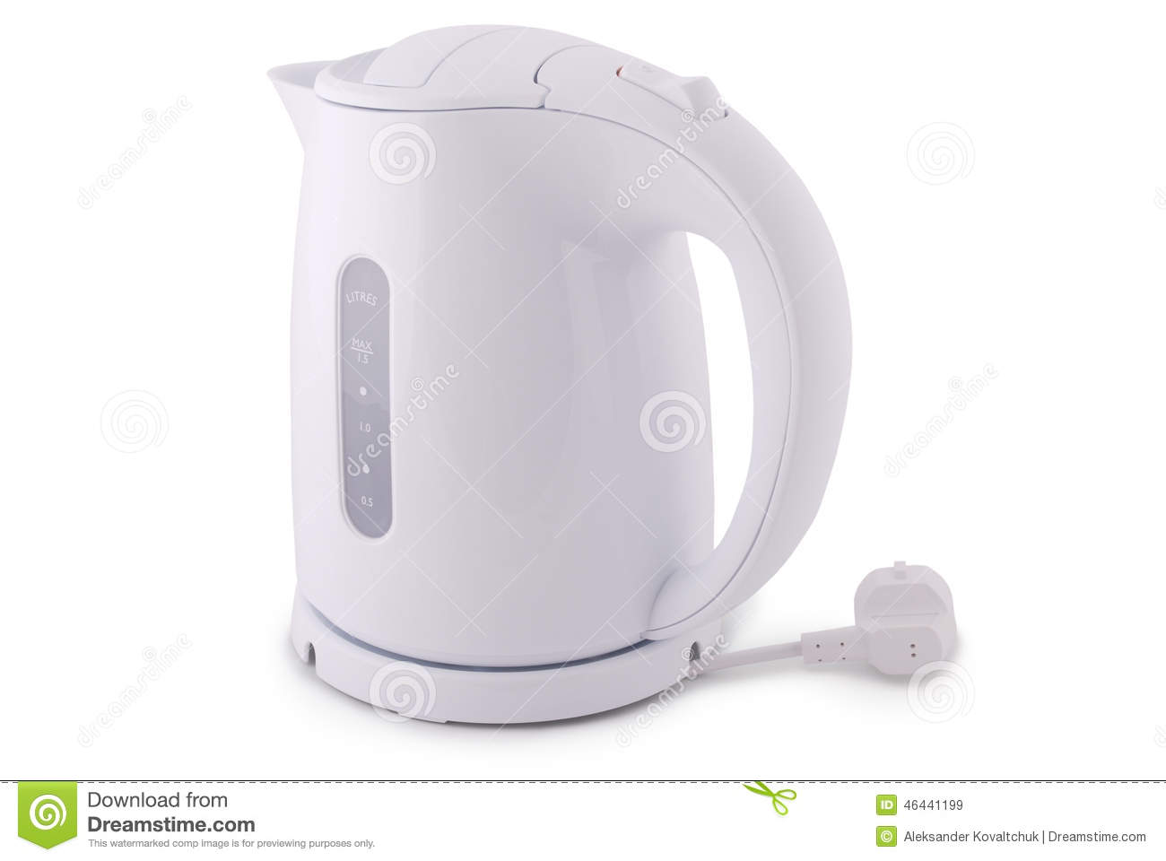 modern electric kettle (clipping path) stock photo  image  - modern electric kettle (clipping path) stock photo