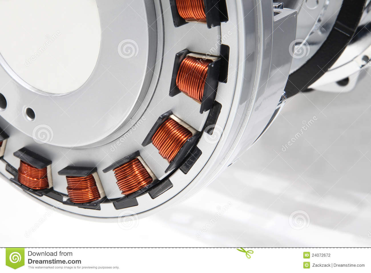 Modern electric motor stock photography image 24072672 for Picture of electric motor