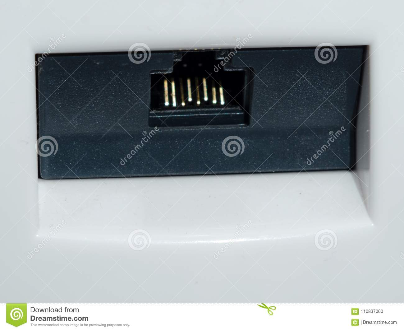 Socket For Internet Connection. Ethernet Connector Stock Photo ...
