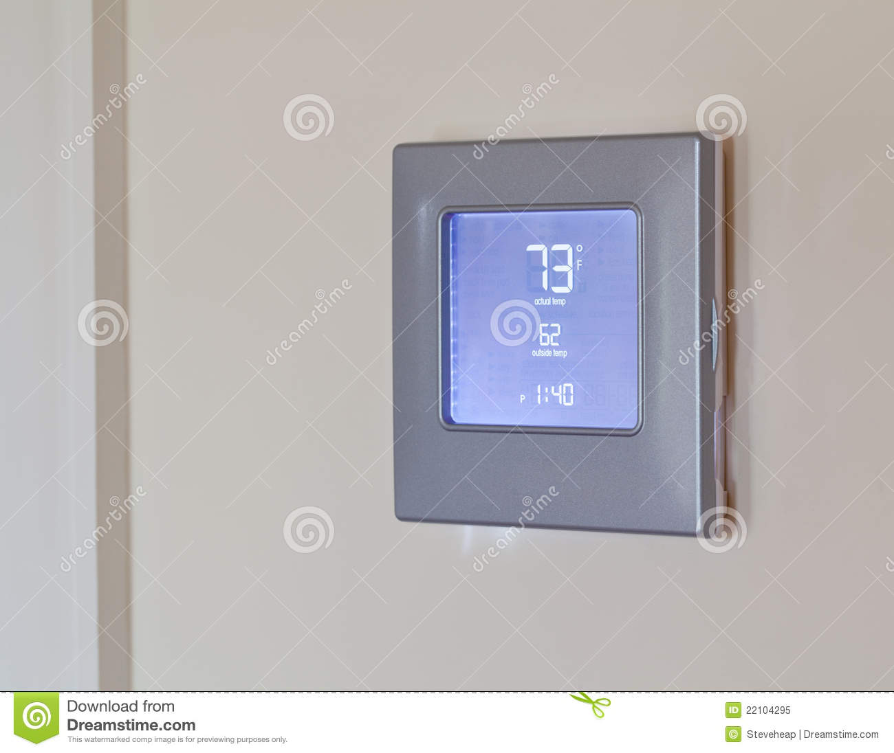 modern electronic thermostat royalty free stock photo image 22104295. Black Bedroom Furniture Sets. Home Design Ideas