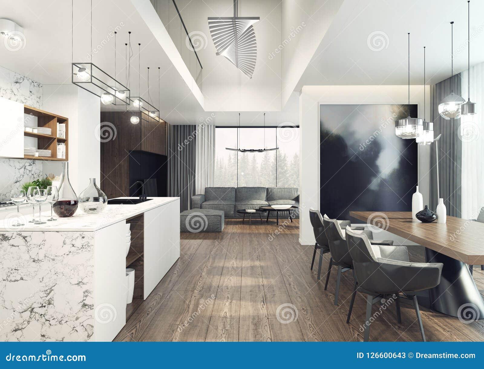 Living Room Modern Elegant Interior Design