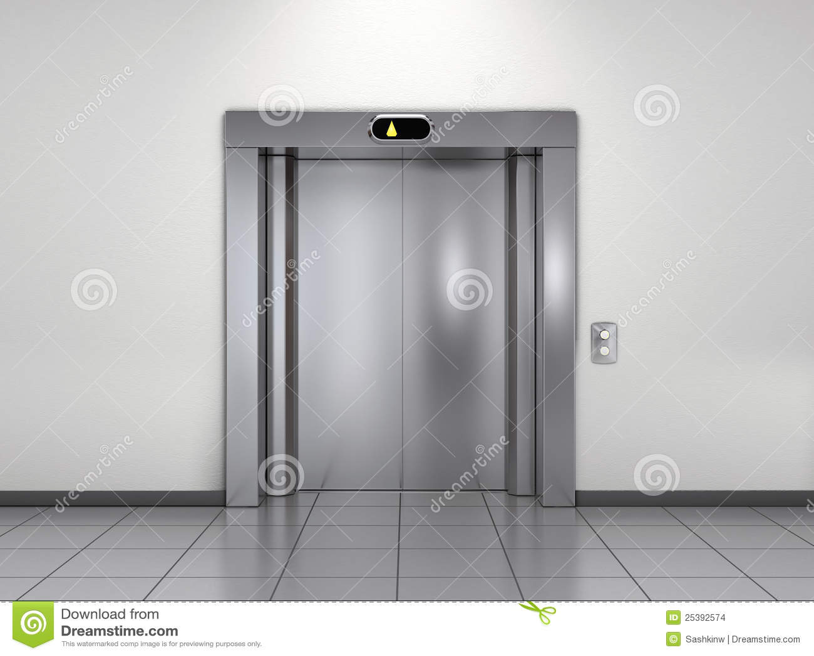 Modern Elevator Stock Illustration Image Of Door Close