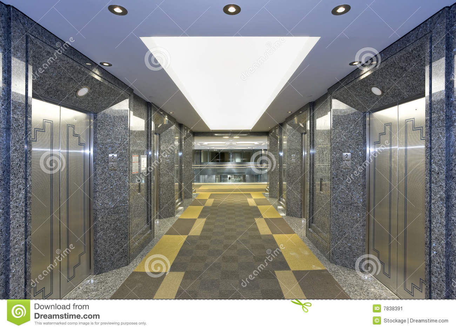 Modern elevator lobby stock image image of building for Modern elevator design