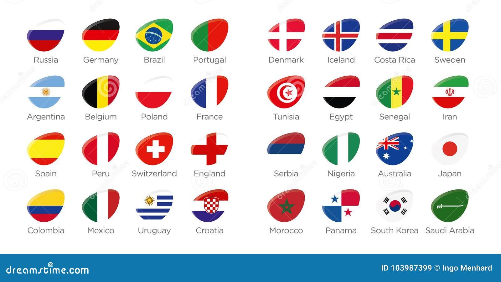 Modern ellipse icon symbols of participating countries of the modern ellipse icon symbols of participating countries of the russian soccer tournament biocorpaavc Gallery