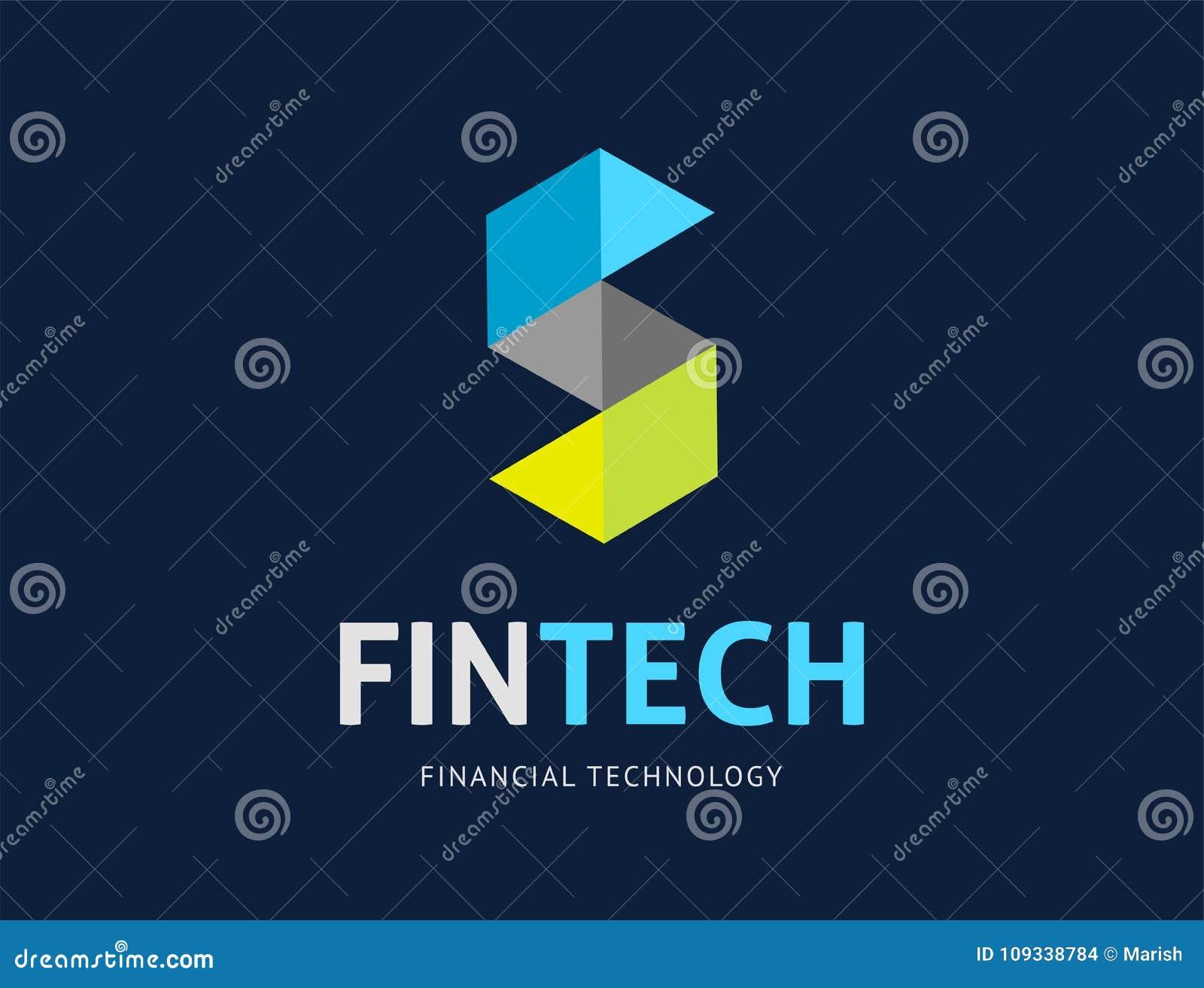 Modern embleemconceptontwerp van de fintechindustrie, financiëndigitiza