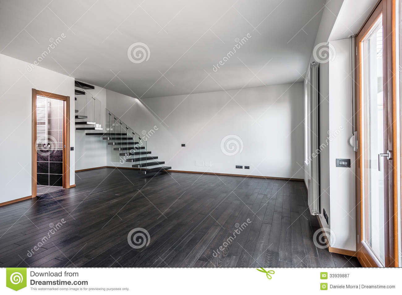 Royalty Free Stock Photography Modern Empty Interior Dark Parquet Staircase Room Unselled Apartment Image33939887 on living room home plans