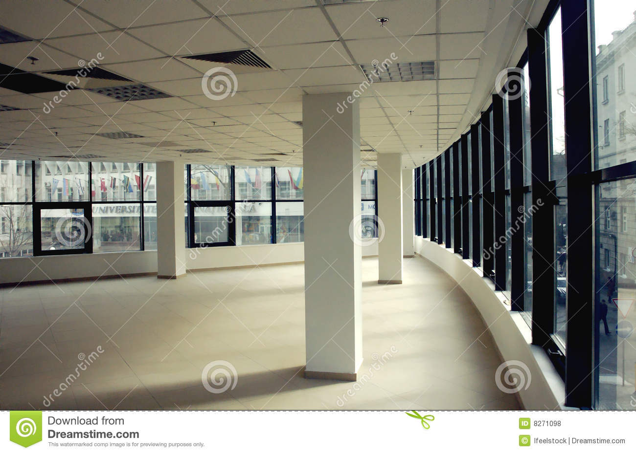 Modern Empty Business Office Space Royalty Free Stock Photos - Image