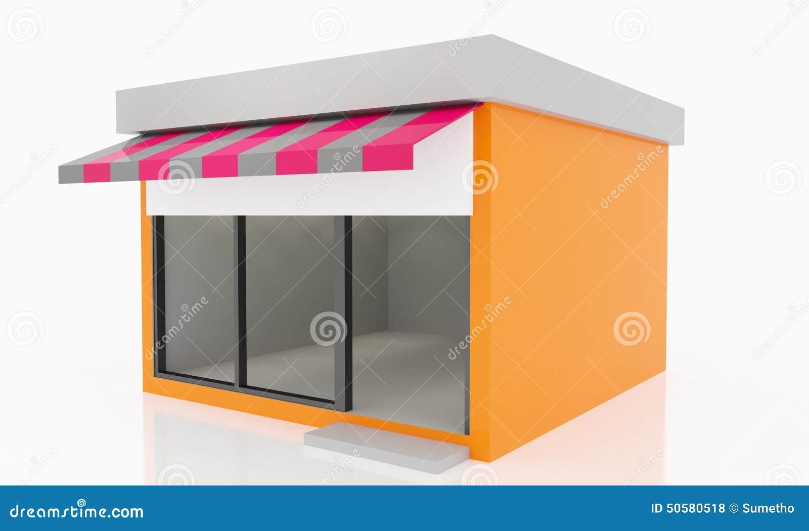 Modern empty shop stock illustration image 50580518 for Exterior kiosk design