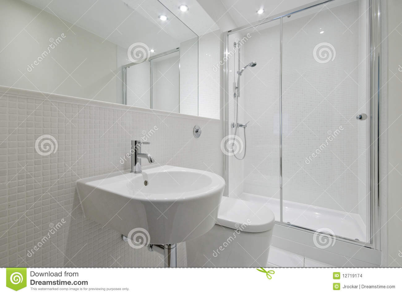Modern en-suite bathroom stock photo. Image of bathroom - 12719174