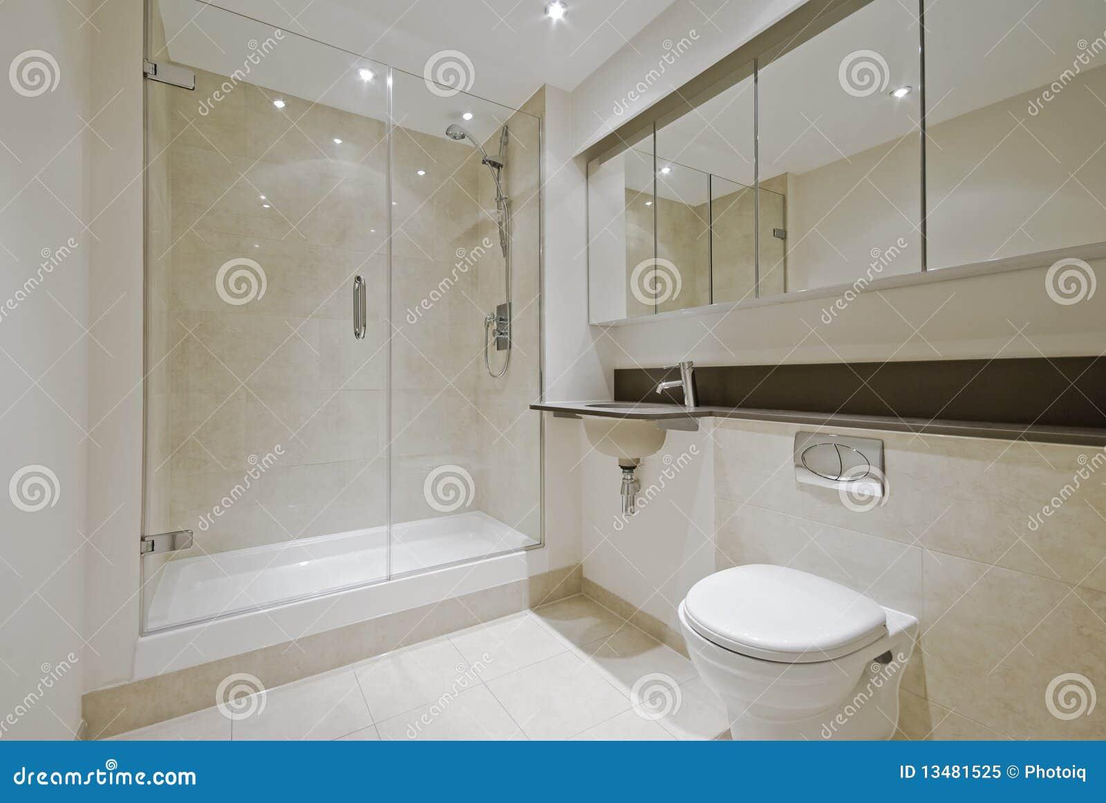 Modern En suite Bathroom Stock Image Of Cupboard