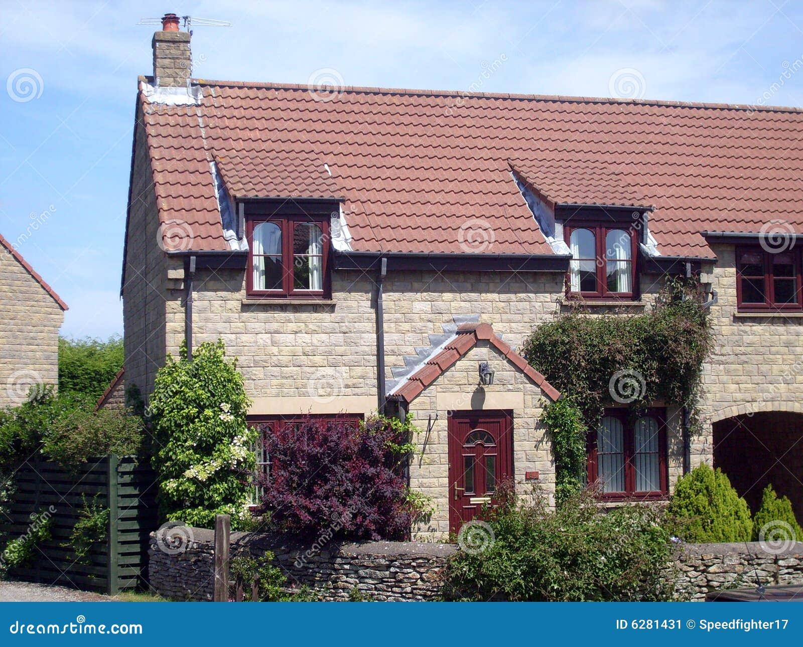 Modern English House Details Stock Image Image 6281431