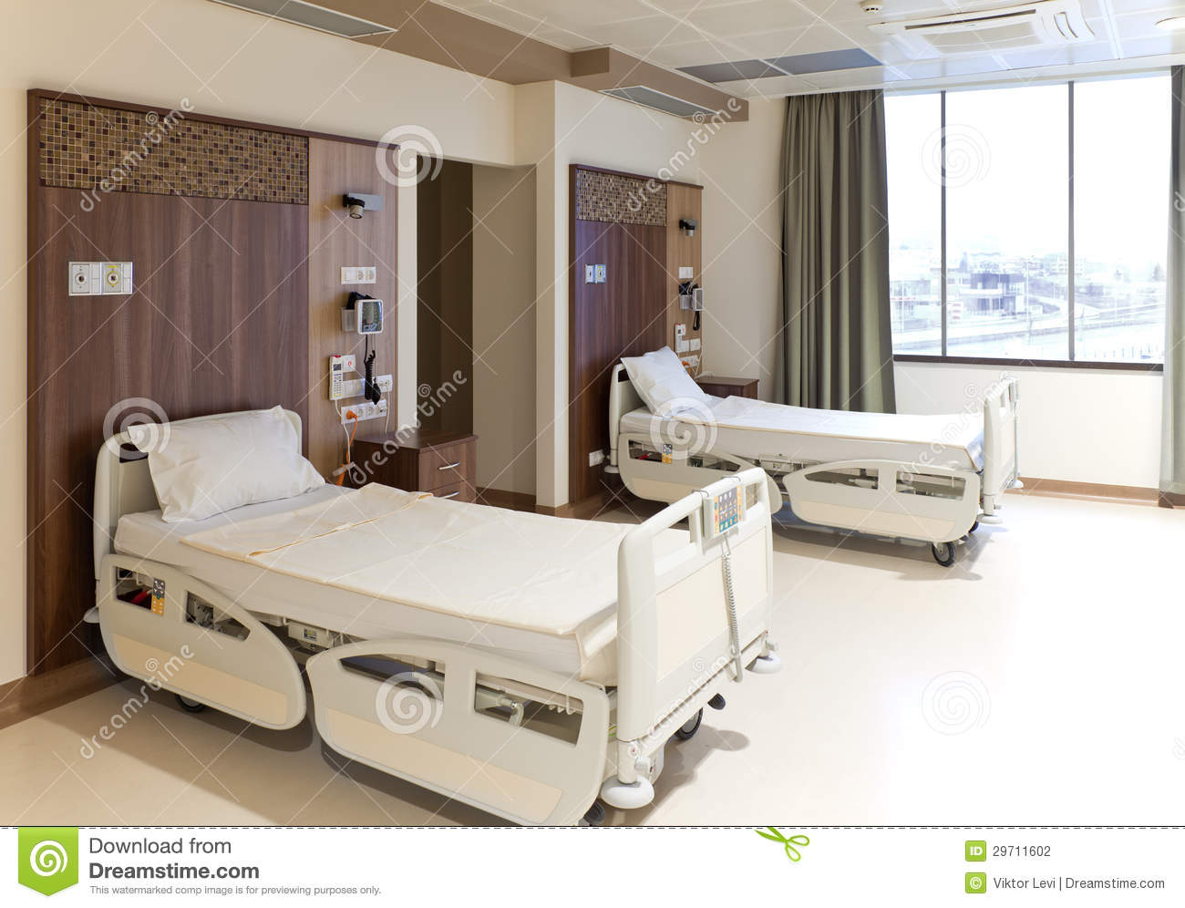 Modern Empty Hospital Room Stock Photo Image Of