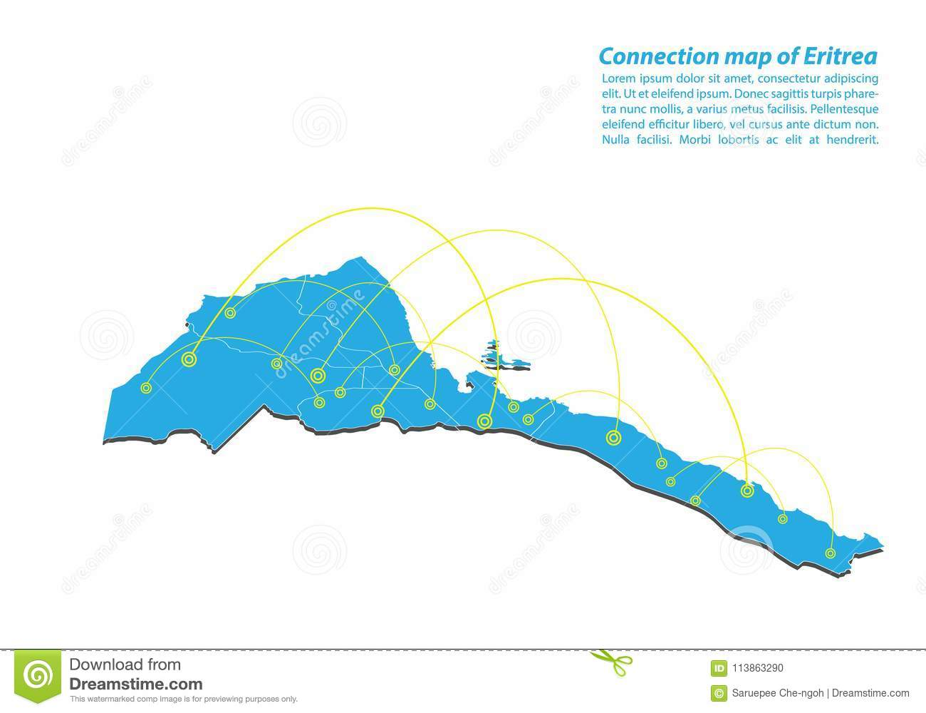 Modern Of Eritrea Map Connections Network Design, Best ... on