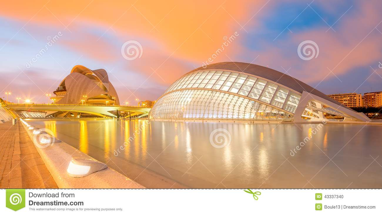Modern European Architecture Valencia Editorial Image