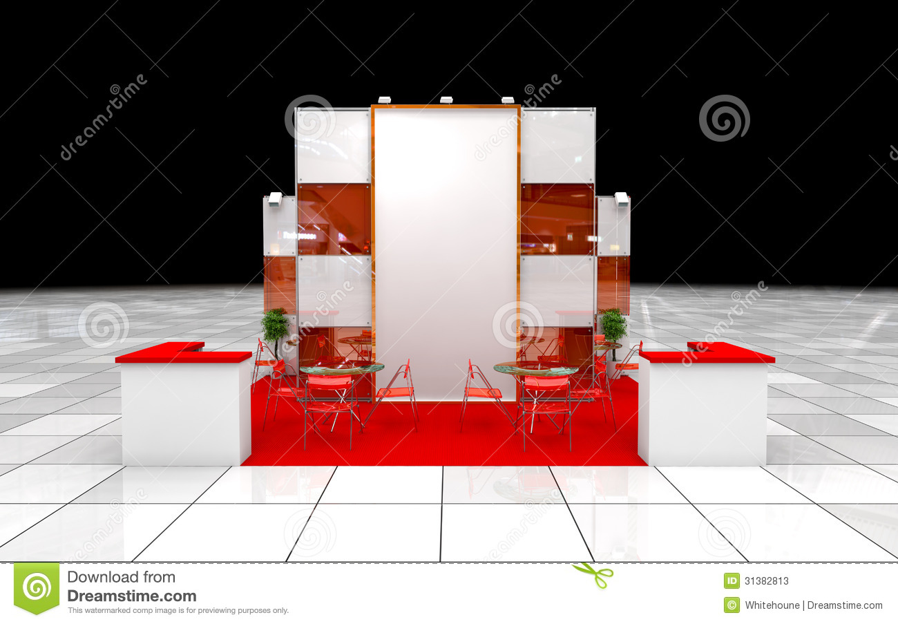 Modern Exhibition Stand : Modern exhibition stand stock illustration image of plan