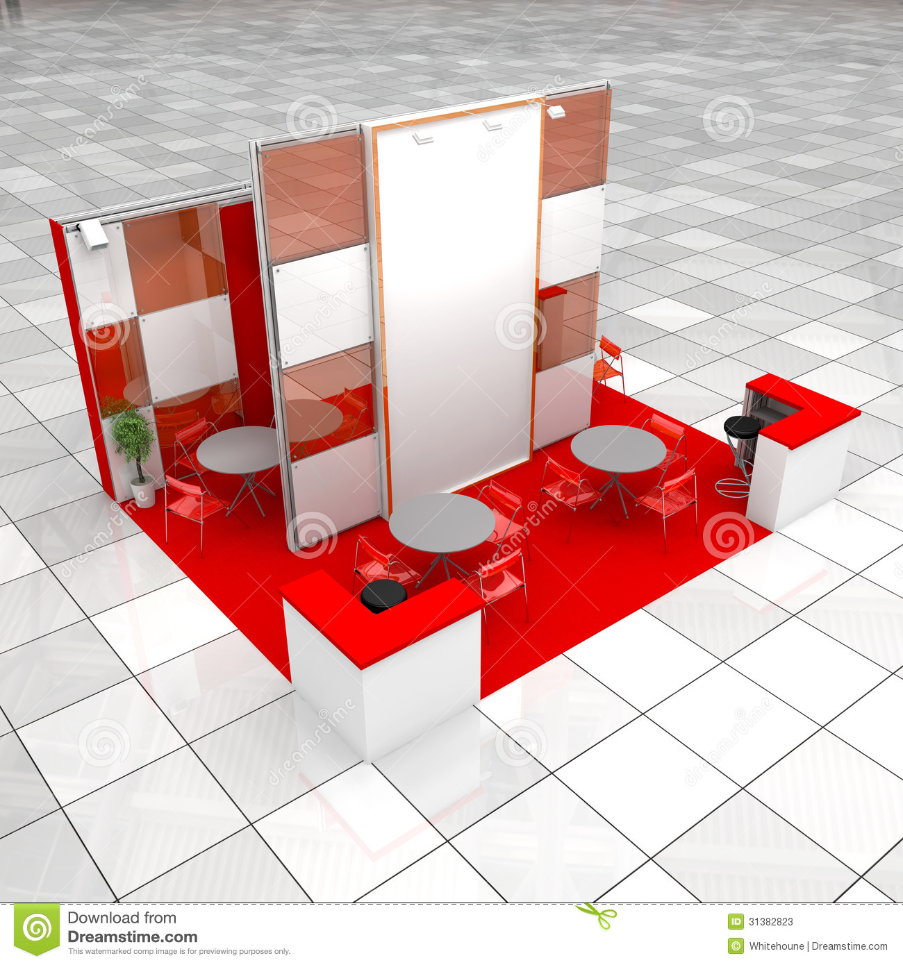 Modern Exhibition Stand Vector : Modern exhibition stand stock photos image