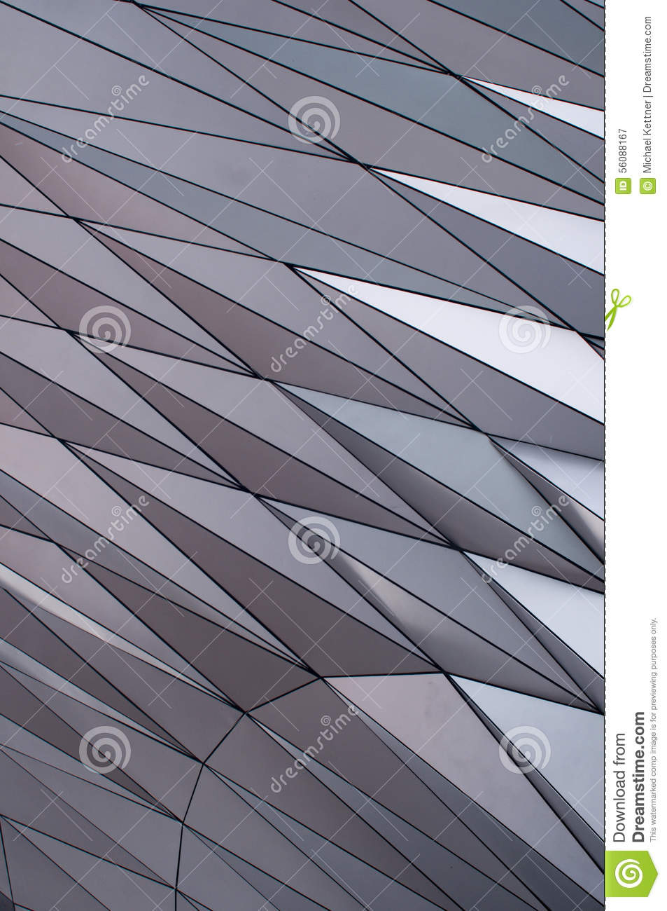 modern facade and geometric form stock image - image of triangle