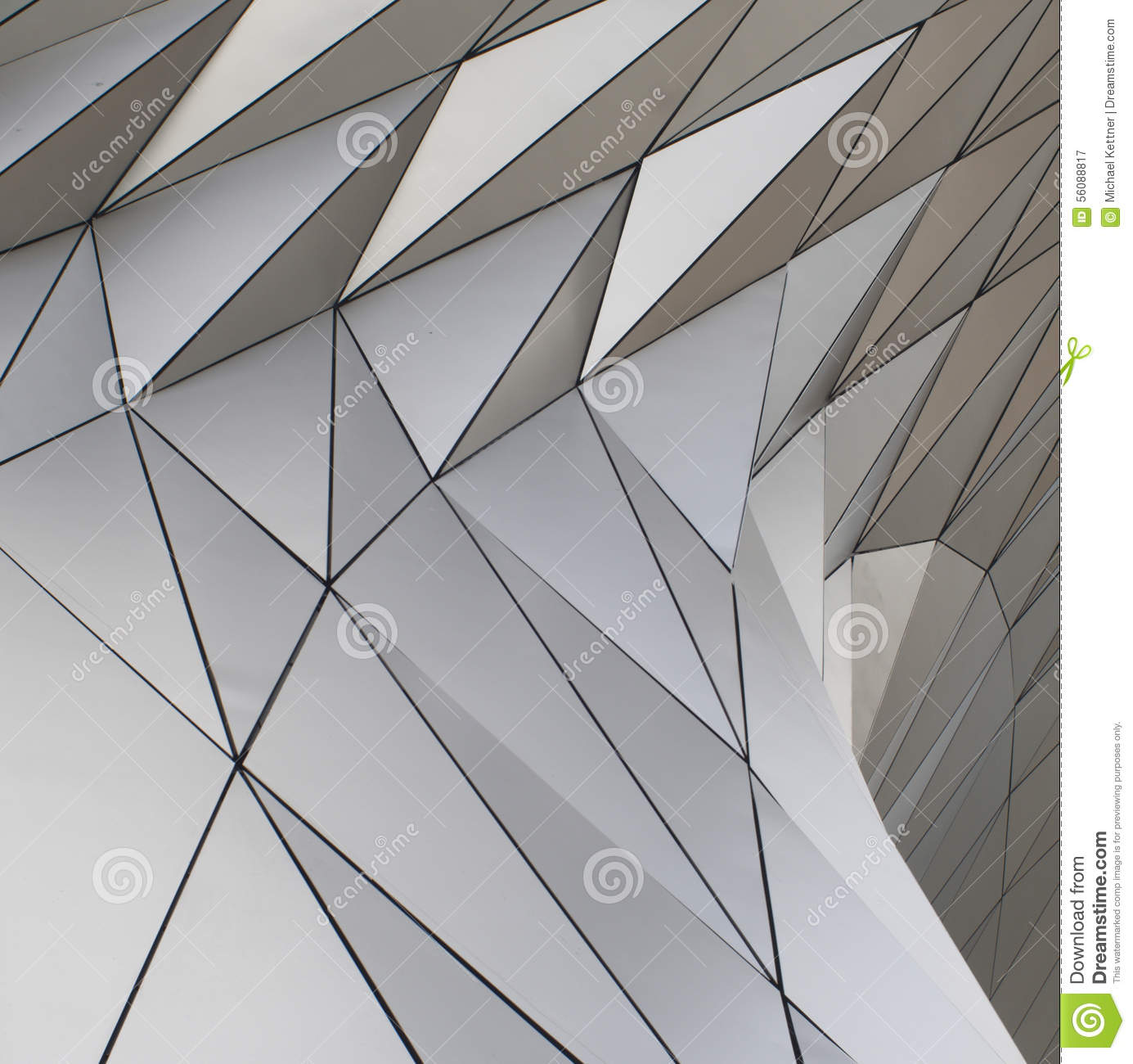 Modern facade and geometric form stock photo image 56088817 for Form architecture