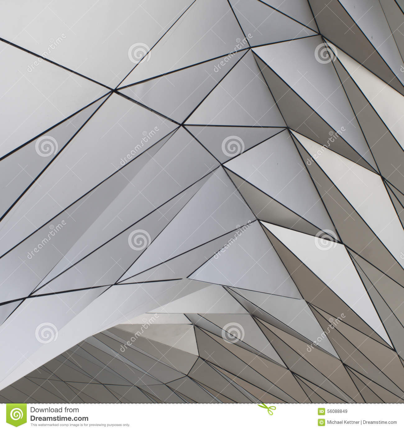 modern facade and geometric form stock image - image of modern