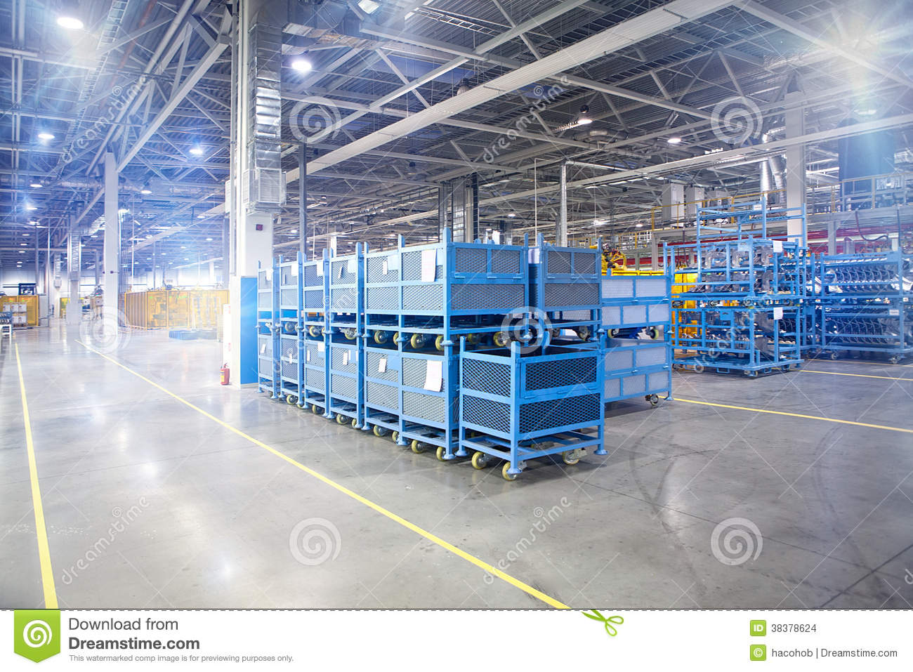 Modern Factory Warehouse In Workshop Stock Images - Image: 38378624