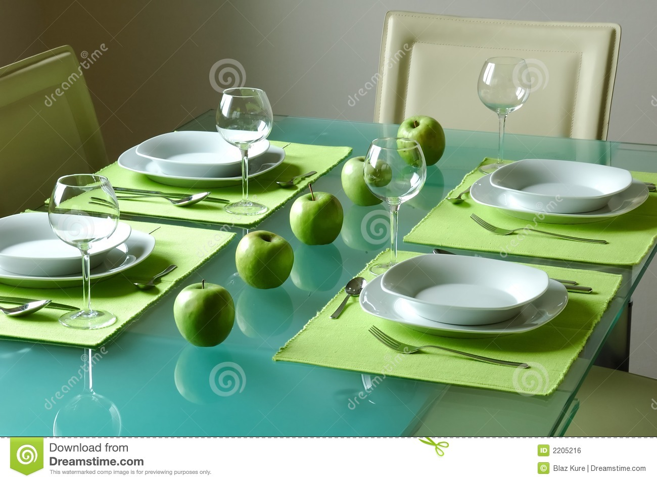 Awesome Modern Fancy Table Setting Royalty Free Stock Image