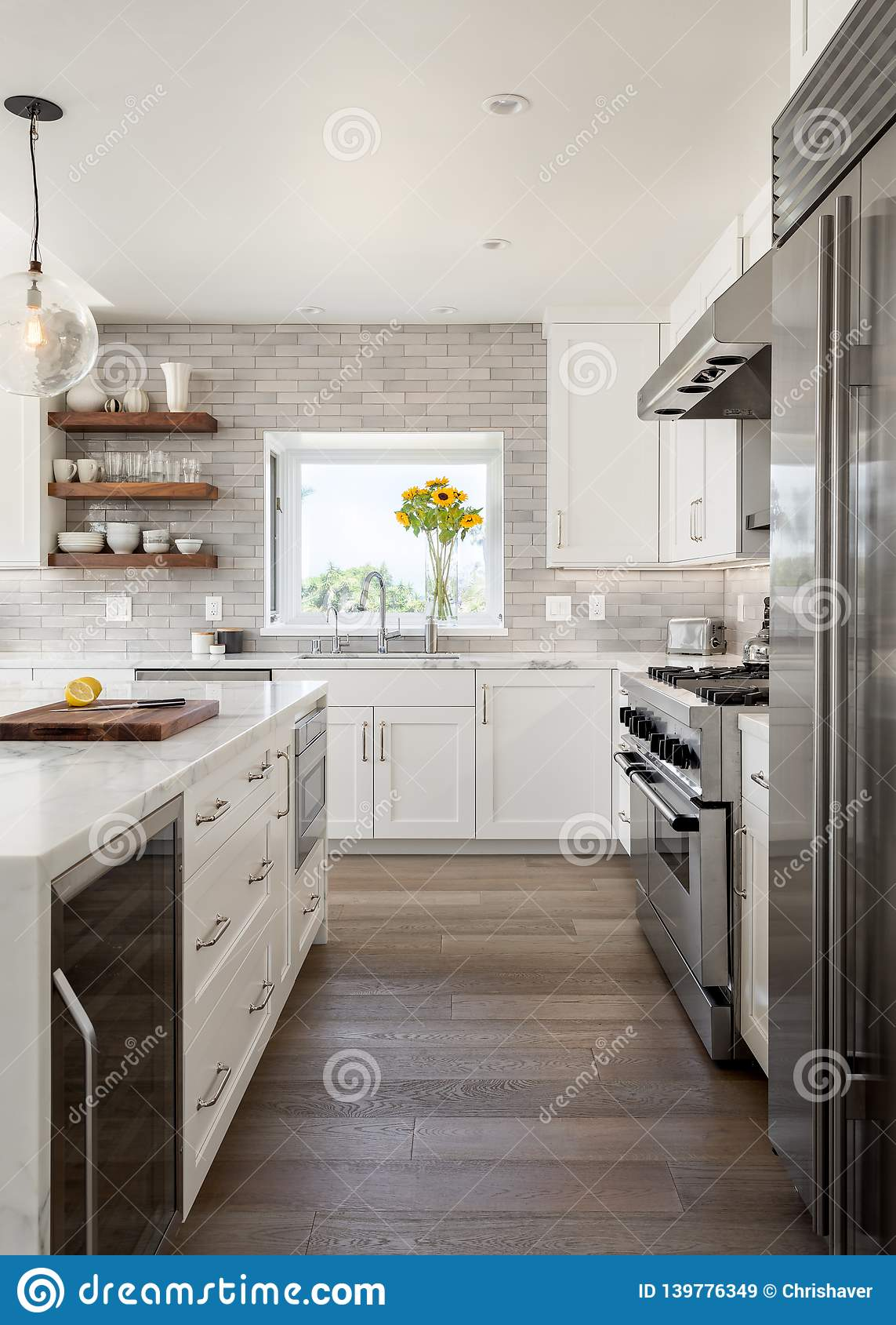 Modern Farmhouse Kitchen Design Remodel Vertical Orientation Editorial Stock Image Image Of Living Modern 139776349