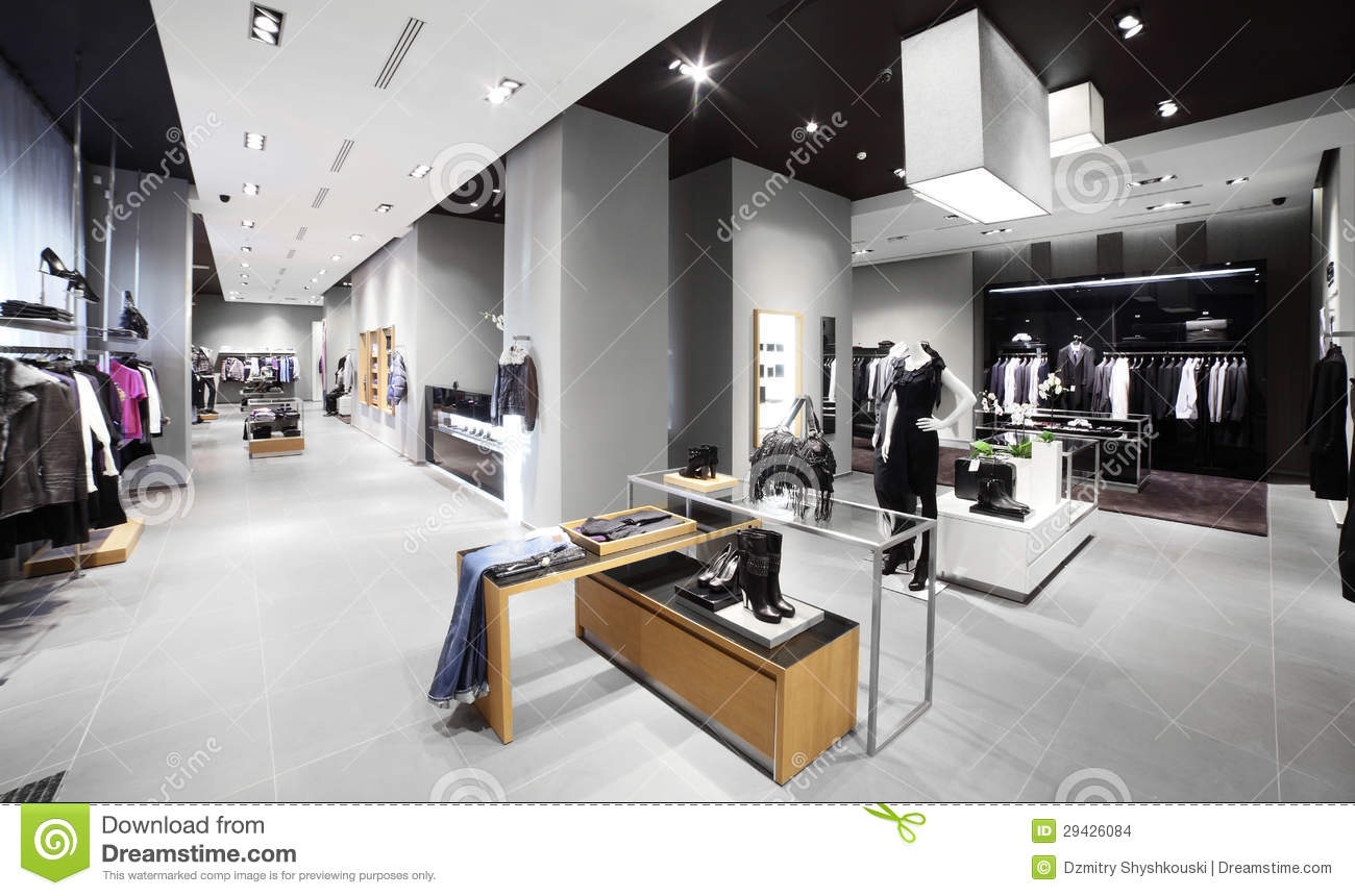 Modern And Fashion Clothes Store Stock Images Image