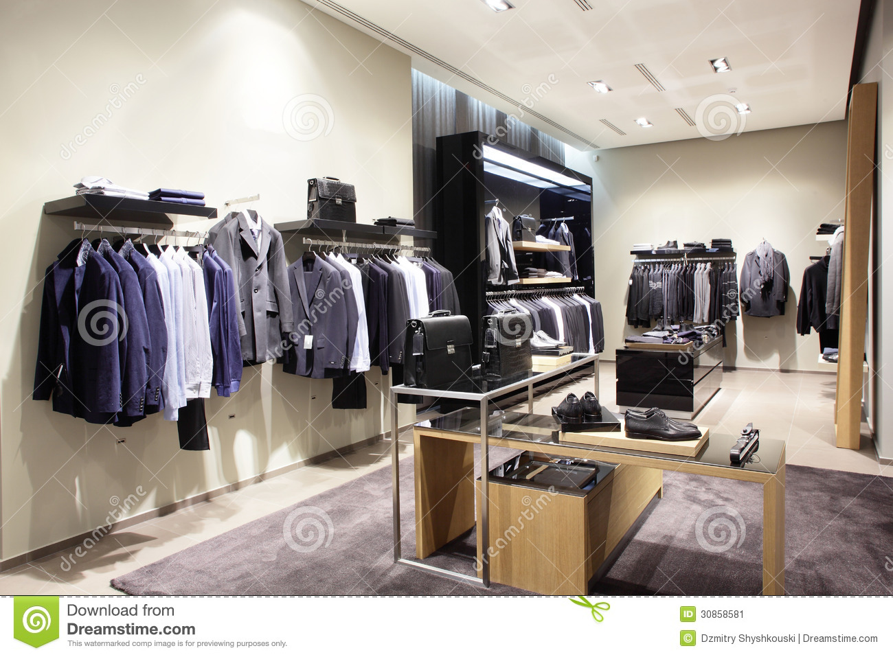 Modern And Fashion Clothes Store Stock Image Image 30858581