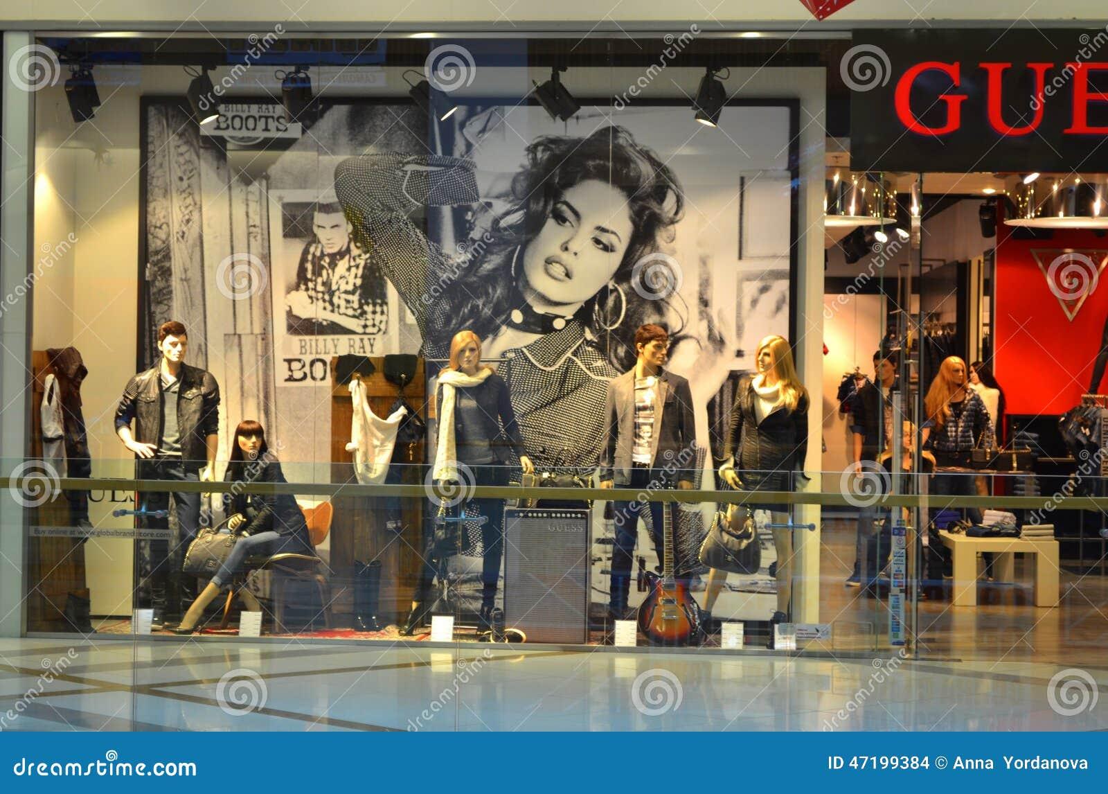 Modern Fashion Shop Showcase Editorial Stock Image Image