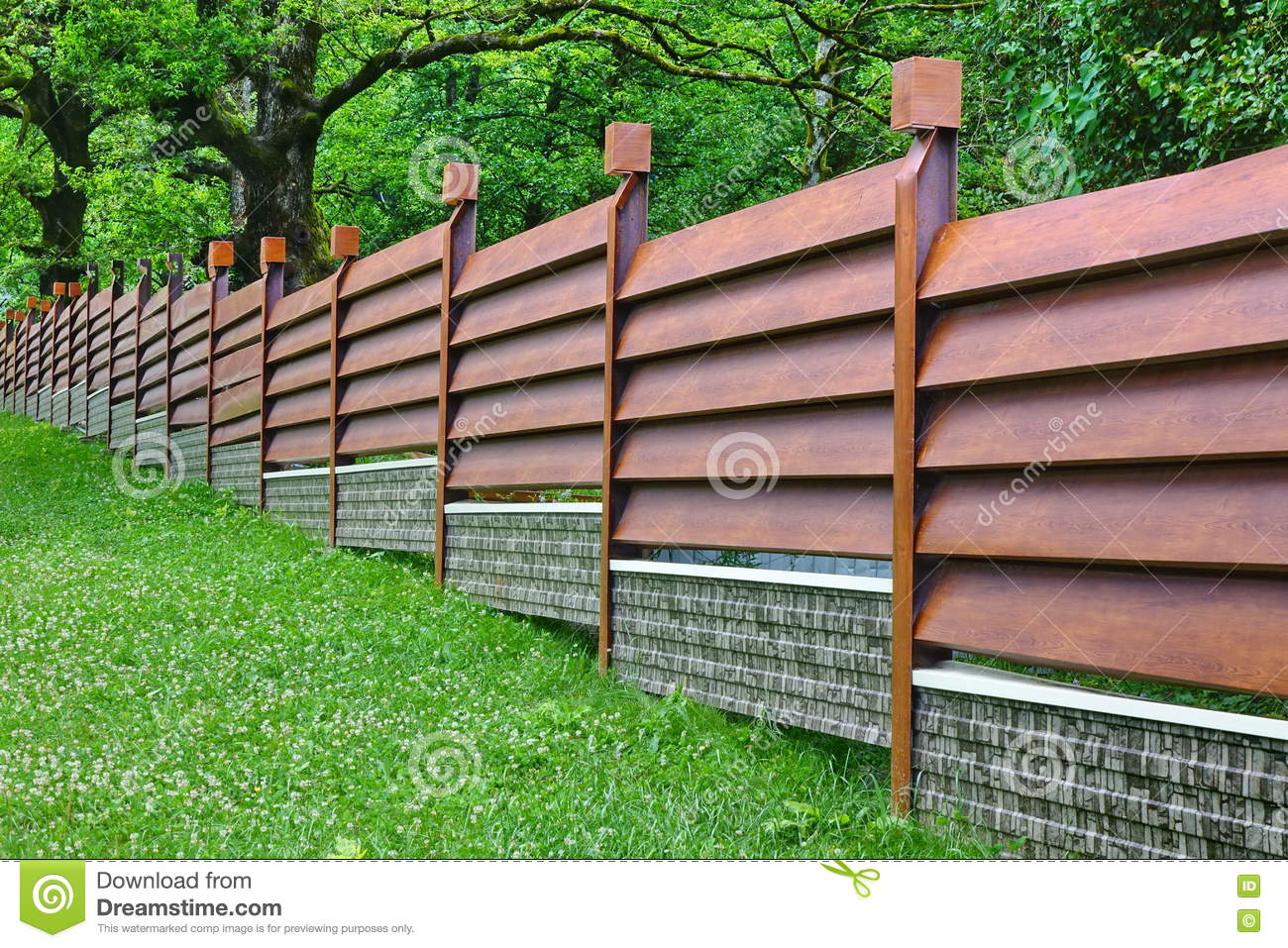 Design Modern Fence modern fence made from metal siding like as natural wood stock royalty free photo download fence