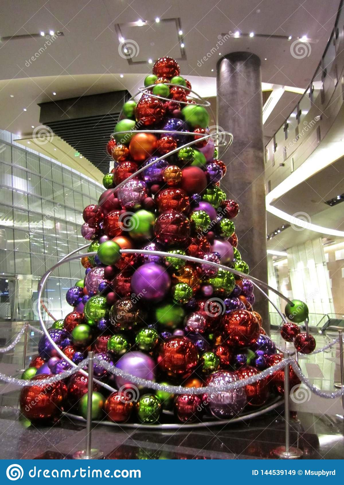 Modern Festive Indoor Christmas Tree Display