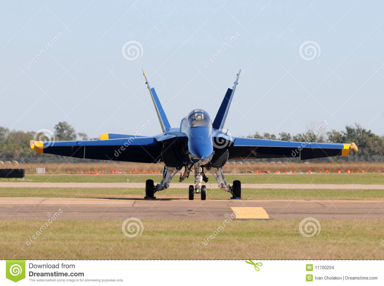 Modern Fighter Jet Front View Stock Images - Image: 11700204