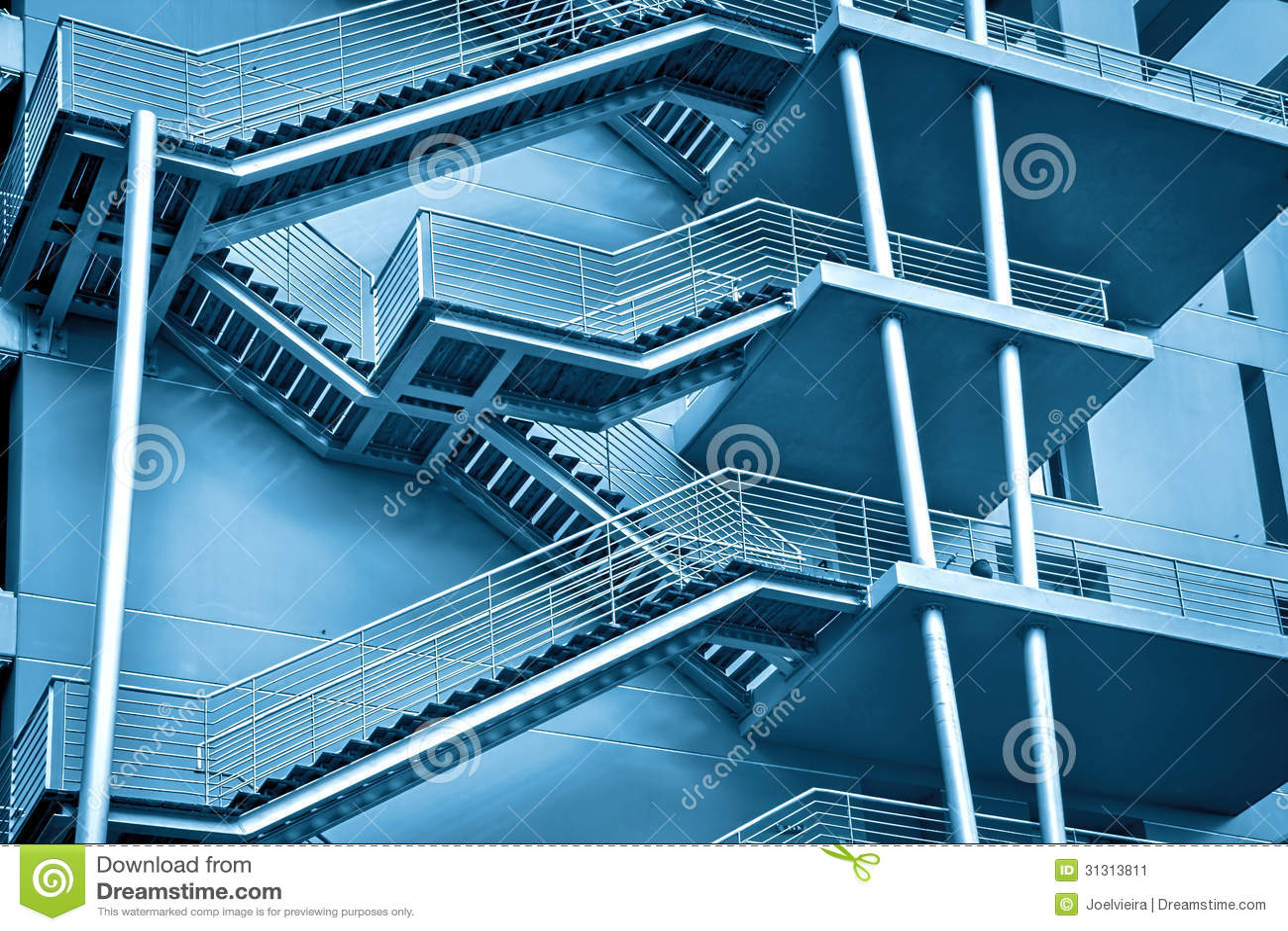 A Fire Escape Stairs Vector 01 Cartoon Vector