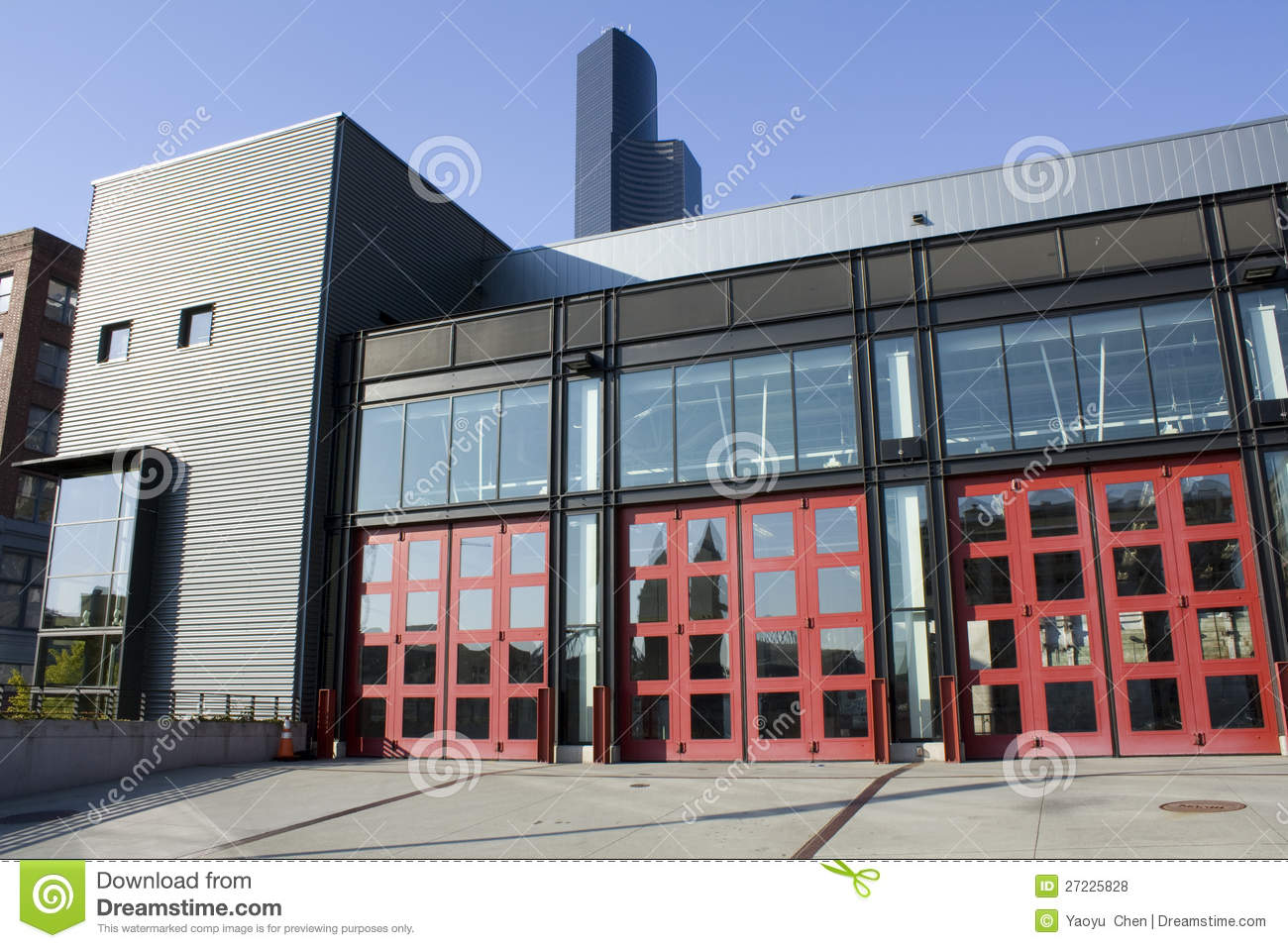 modern fire station royalty free stock photos - image: 27225828