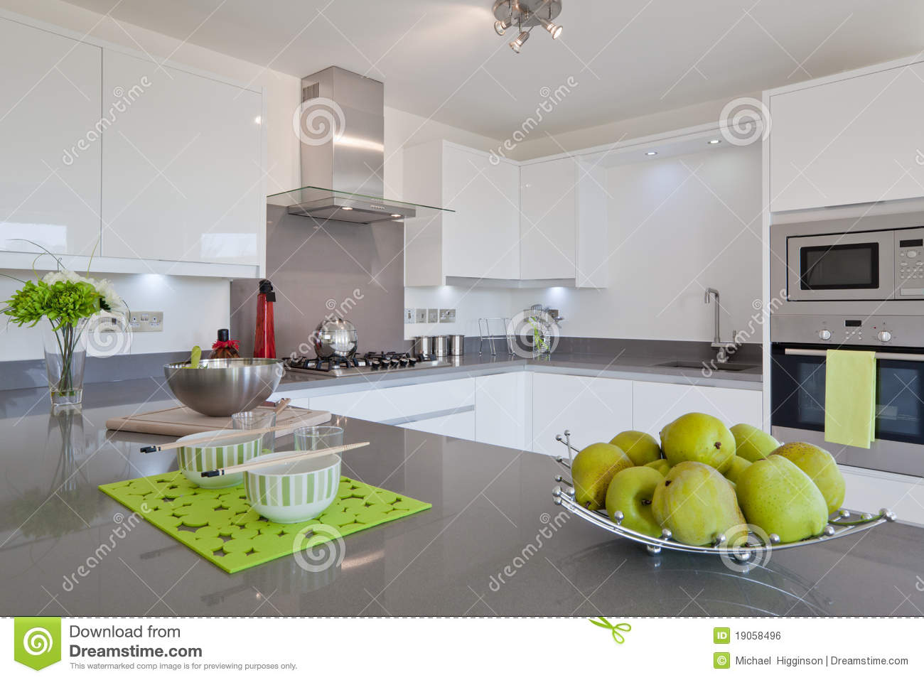 Modern fitted kitchen royalty free stock image image for Modern fitted kitchen