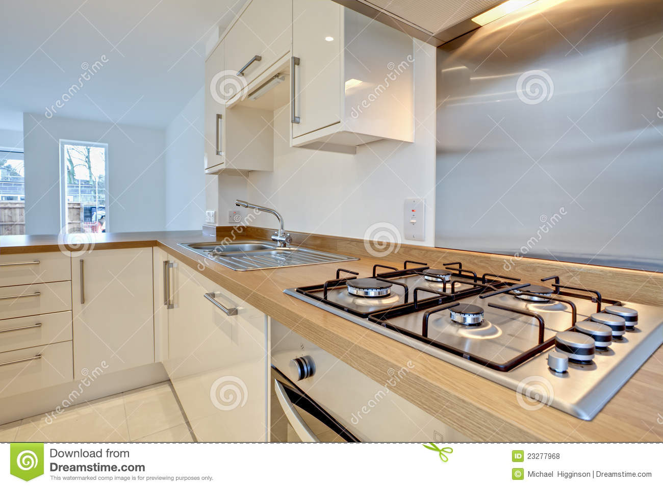 modern fitted kitchen royalty free stock photos image
