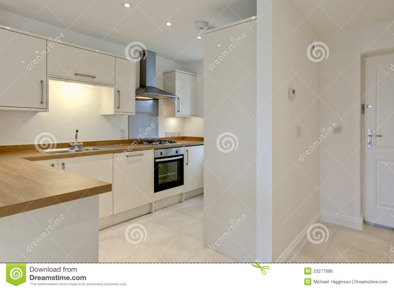 Modern Fitted Kitchen Royalty Free Stock Image - Image: 23277986