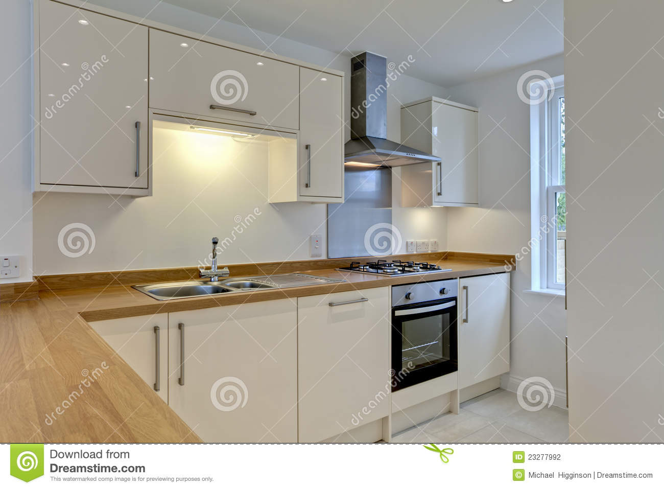 Modern fitted kitchen stock photography image 23277992 for Modern fitted kitchen