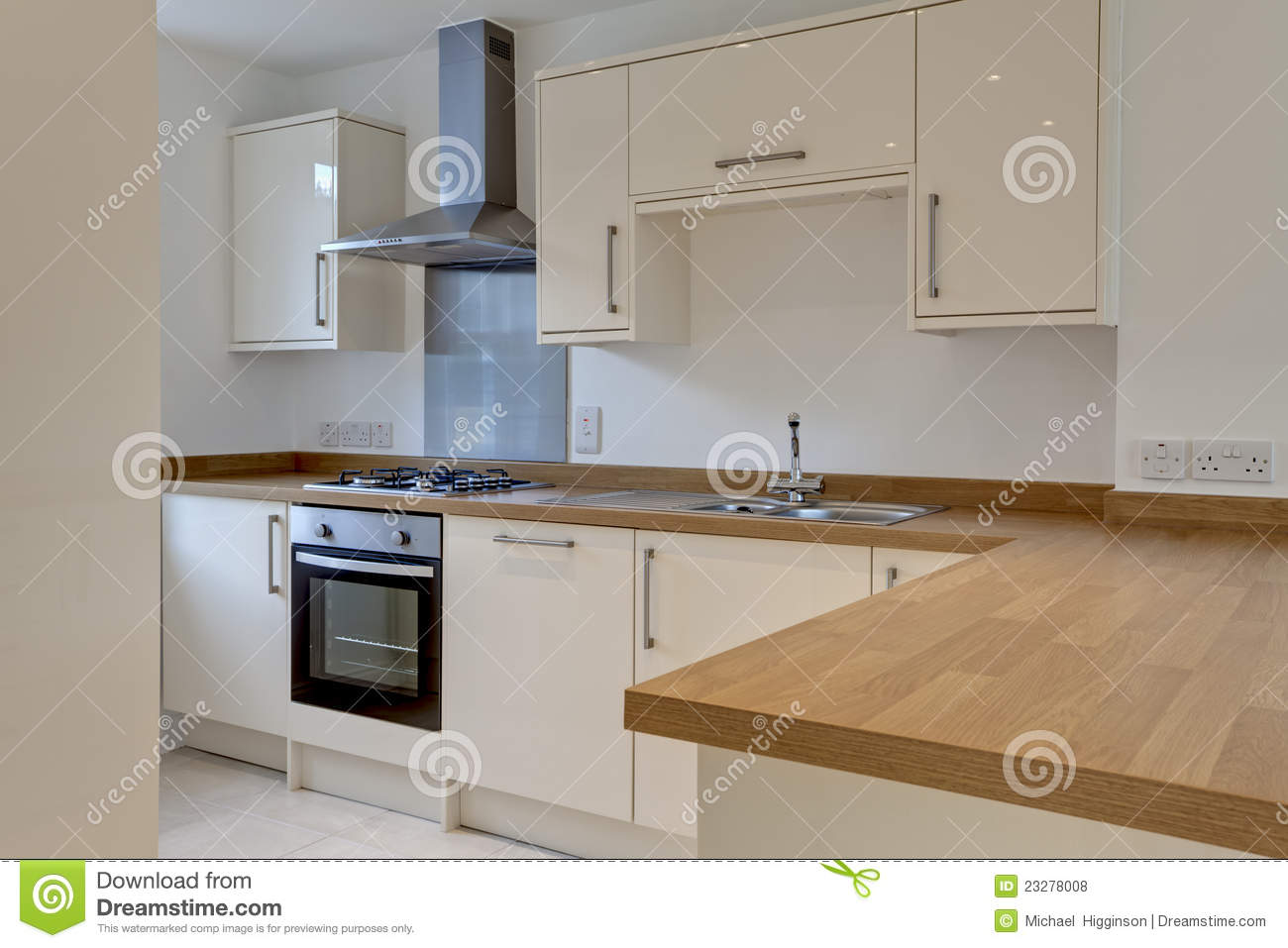 Modern Fitted Kitchen Royalty Free Stock Photos  Image 23278008
