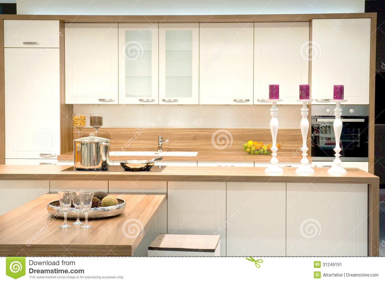 Modern fitted kitchen stock image image 31249191 for Contemporary fitted kitchens